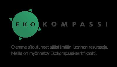 Ekokompassi ympäristosertifikaatti kertoo sitoutumisesta jatkuvaan ympäristötyöhön