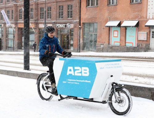 Pakettipisteen julkaisu: Pakettikuljetukset tavarapyörällä hoituivat läpi talven